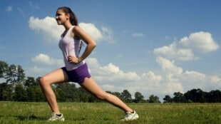 Die sportliche Joggerin